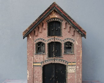 Antique Dollhouse, Amsterdam Warehouse, Exact model of real Amsterdam Architecture made in 1905 Collectible Dollhouse
