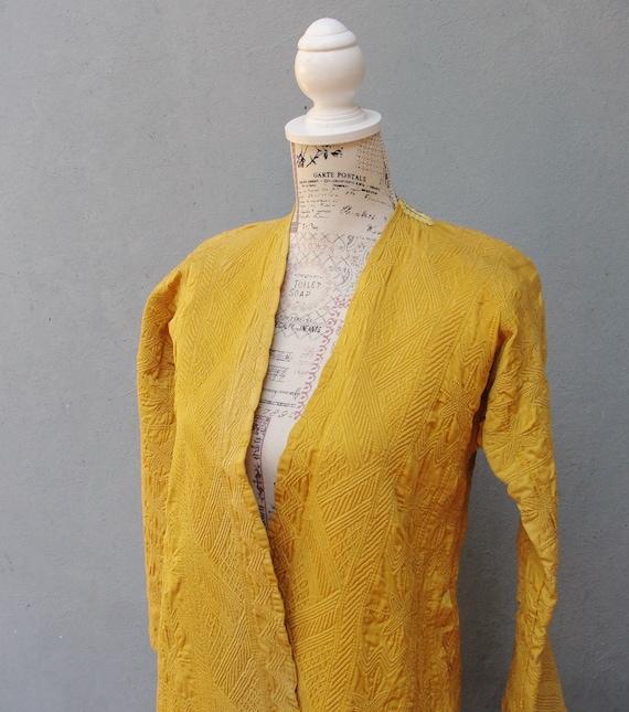 Antique Quilted Kaftan Ottoman Jacket, Matelassee
