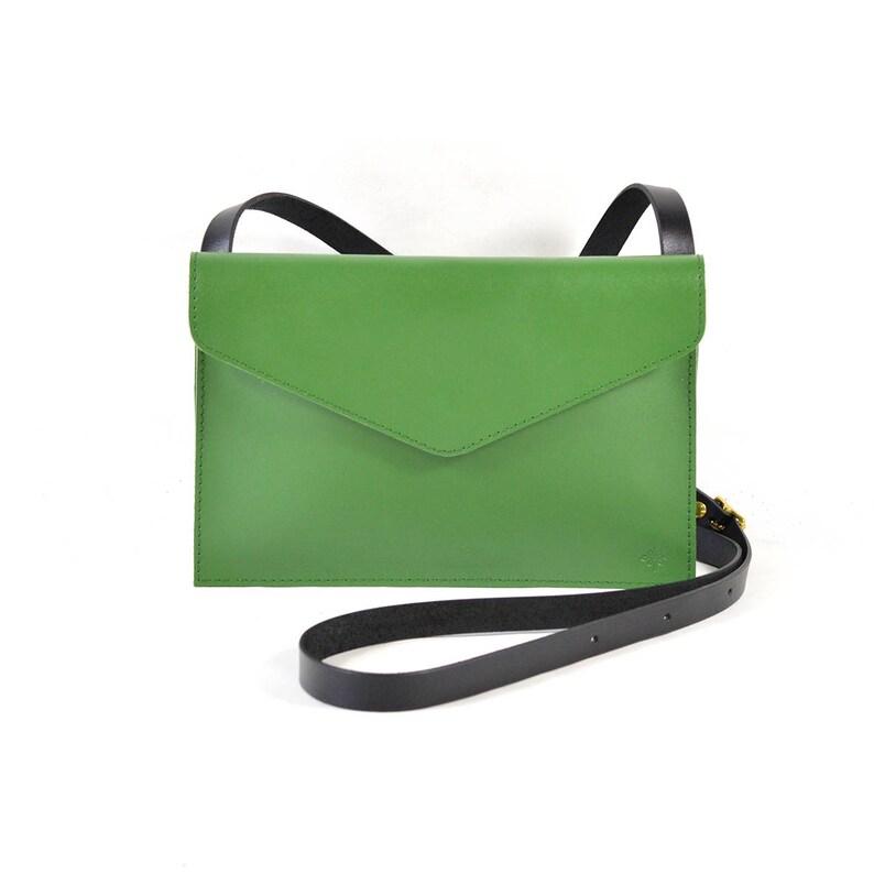 c652b44037b94 Evette-Handmade zielony skórzany torba na ramię torebka