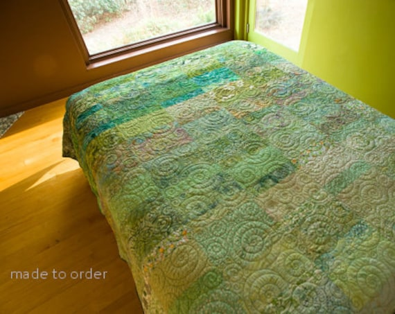Meadow Green Quilt  - Choose Your Size - Made to Order