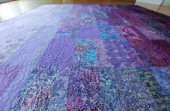 Purple Ombre Modern Quilt - Choose Your Size - Made to Order
