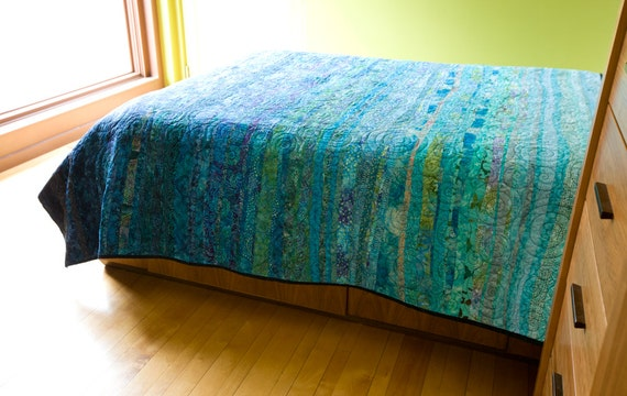 Oceanic Dreams Modern Quilt - Choose Your Size - Made to Order