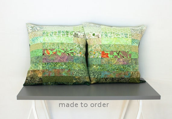 Meadow Green Euro Size Pillow Shams