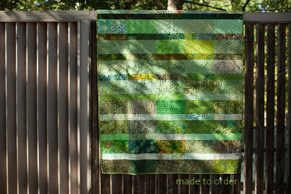 Contrast Meadow Quilt - Choose Your Size - Made to Order