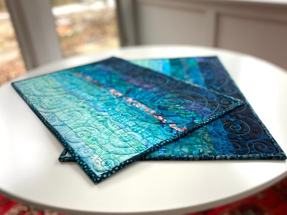 Oceanic Dreams Quilted Placemats - #0016