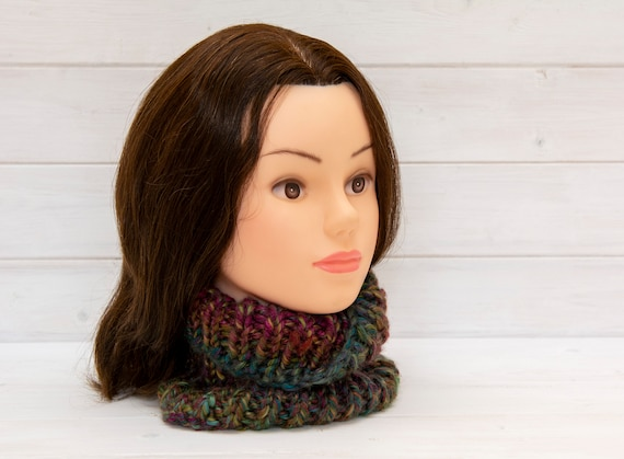 Super chunky, soft multicoloured neckwarmer