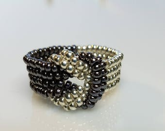 Beaded Knot Ring