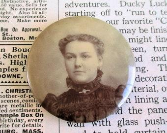 Vintage Woman Mourning Pin