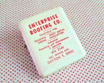 Vintage Enterprise Roofing Co. Advertising Clip - Dayton, Ohio