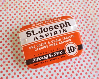 Little Vintage St. Joseph Tablets Tin