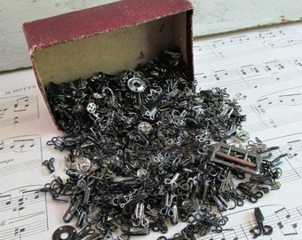 Big Lot of Vintage Sewing Hooks and Eyes