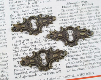 Three Ornate Brass Vintage Key Holes