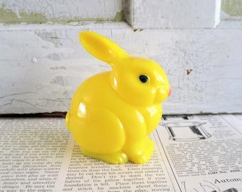 Little Vintage Yellow Plastic Bunny