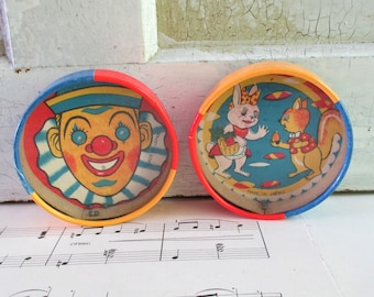 Pair of Vintage Made in Japan Little Ball Dexterity Puzzles
