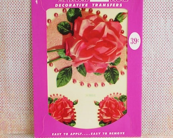 Vintage Meyercord Decal - Roses - NOS