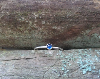 Sapphire Ring Little Stacking Band September Birthstone Size 6