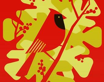 cardinal large limited edition print