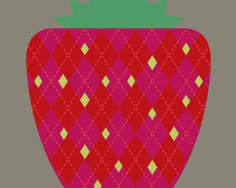 strawberry limited edition print
