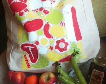 happy groceries reusable tote