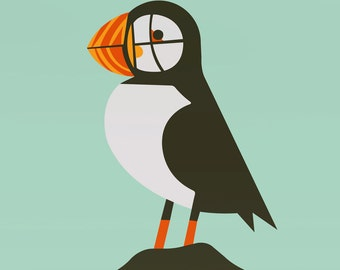 puffin large limited edition print