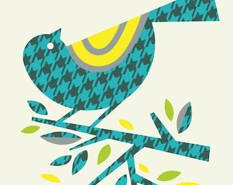 houndstooth warbler pattern print