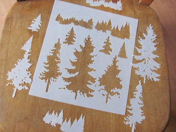 Winter Tree Mylar AIRRUSH Painting Wall Art Stencil