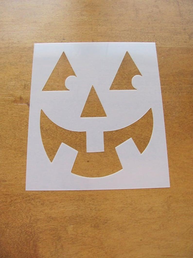 Pumpkin Face Mylar Stencil Art Airbrush reusable Durable Paint L405