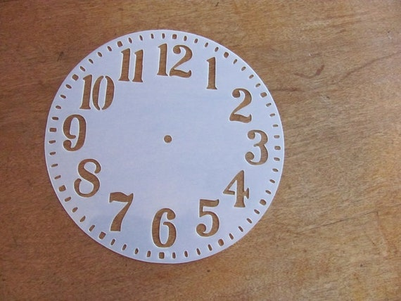 Made in USA STENCIL Mylar 6.0 inch Round clock with hole in center Art Paint Quilt L307