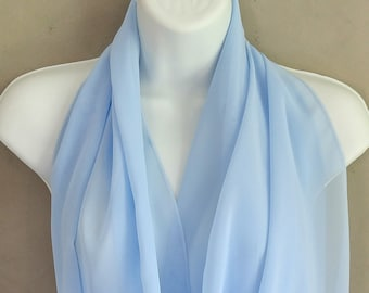 stars light blue Neck scarf with name