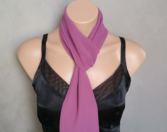 Purple Scarf, Mauve Scarves, Blythe Rose Scarf, Sheer Chiffon Scarf, Free Shipping, Rose Scarves, Sheer Mauve Scarf, Sheer Purple Scarf