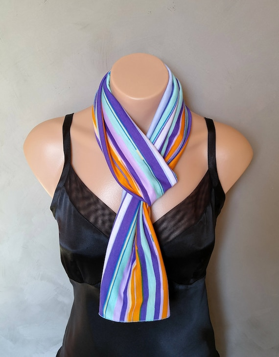 Stretch Knit Scarf, Purple Scarf, Skinny Scarf, Stretch Scarf, Stretchy Scarf, Knit Scarf, Blue Knit Scarf, Jersey Knit Scarf, Knit Scarves