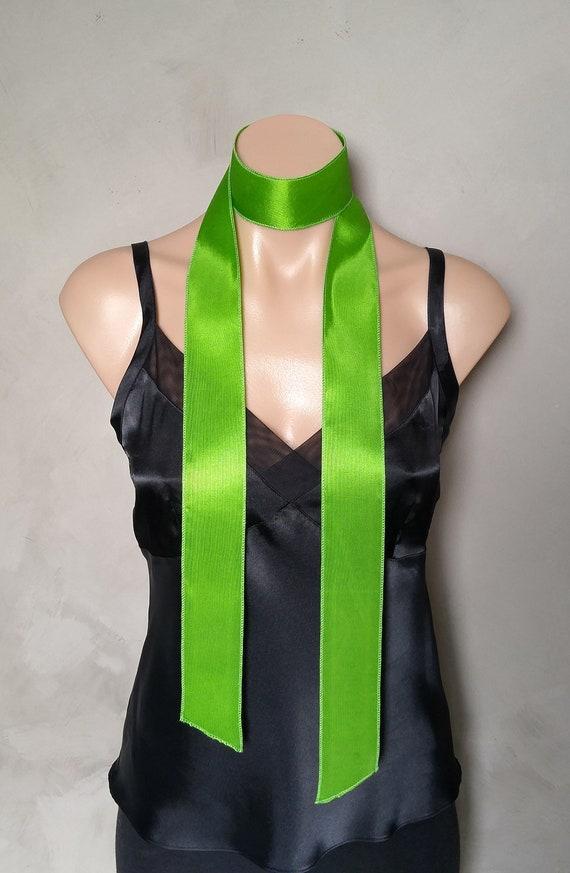 Skinny Scarf, Choker Scarf, Lime Green Scarf, Green Skinny Scarf, Choker Scarves, Daphne Costume Scarf, Daphne Green Scarf, Daphne Scarf