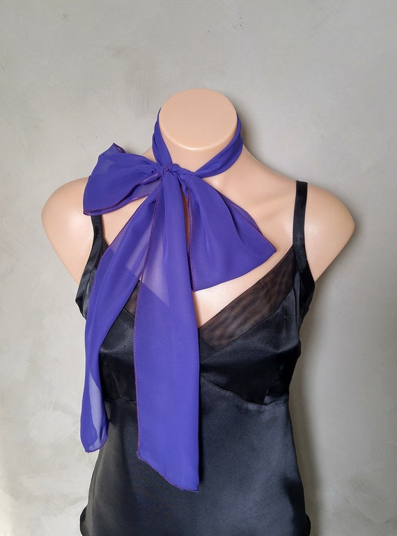 Hair Scarf, Mini Scarf, Purple Hair Scarf, Skinny Scarves, Choker Scarf, Hat Scarf, Ponytail Scarf, Hair Scarves, Purple Skinny Scarf, Ascot