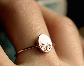 star signet ring celestial ring dainty star ring sterling silver star ring small gold star ring tiny stars bronze ring STAR GAZER RING