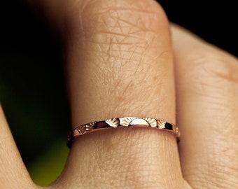 original sunrise ring 14k gold ring 10k gold sterling sun ring dainty gold ring solid gold band stacking ring stackable ring SUNRISE BAND