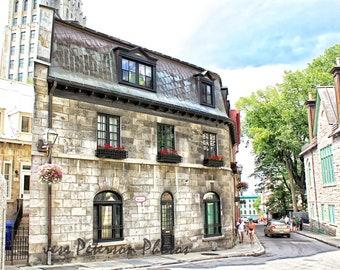 Historic City Photos, Travel Photography, Quebec Canada Prints, Neutral Home Decor, Old Building wall art, Architecture photos, Quebec Art