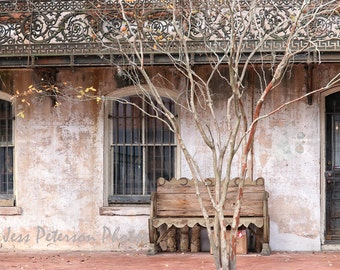 Old house photography, Raskin Antiques Print, Historic Savannah Wall Art, Architecture print, Cottage wall Art, Rustic Neutral Home  Decor