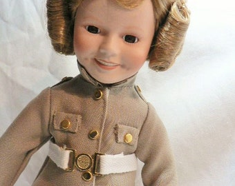 Shirley Temple collectible doll collection 4 movie magic, dolls of the silver screen collection Danbury Mint 14 inch porcelain
