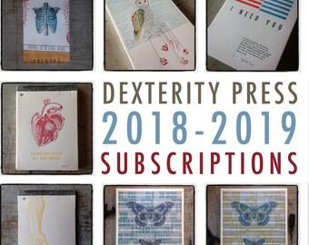 2018 - 2019 Dexterity Press Subscriptions