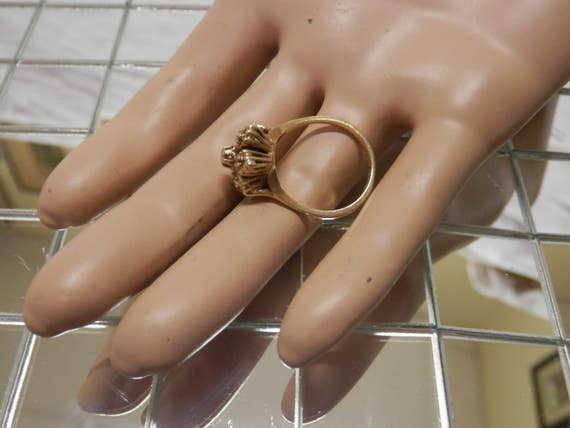 1960's Diamond Cocktail Ring / Engagement / Promi… - image 3