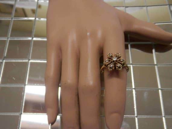 1960's Diamond Cocktail Ring / Engagement / Promi… - image 1