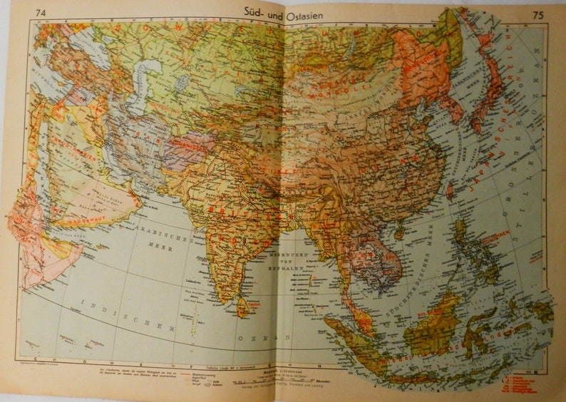 Map Of Asia After Ww2.Wwii German War Map Of British India Asia Japan And Manchuria