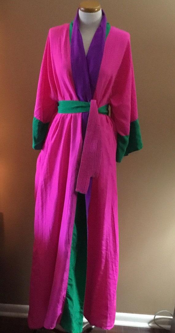 Bill Tice Classic Kimono Style Robe   Size Small
