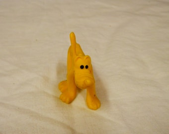 Vintage 1950'sYellow Rubber Pluto Walt Disney Productions made in Hong Kong