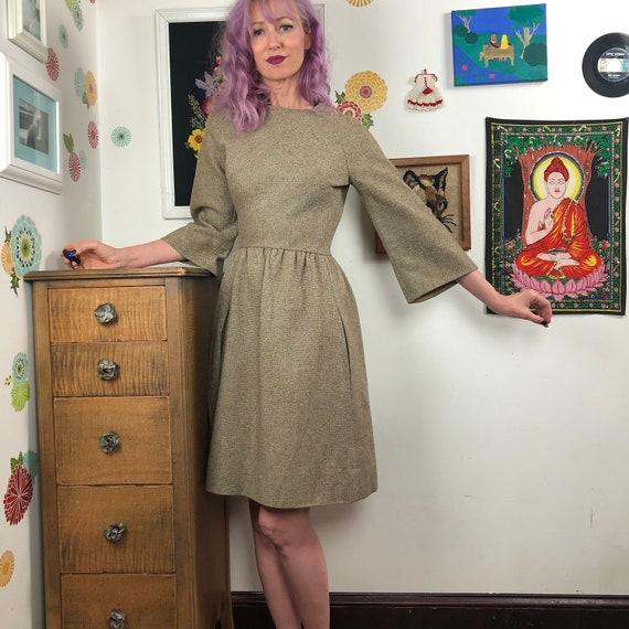 Vintage Vogue Paris Original Dress, 1960s Bell Sle