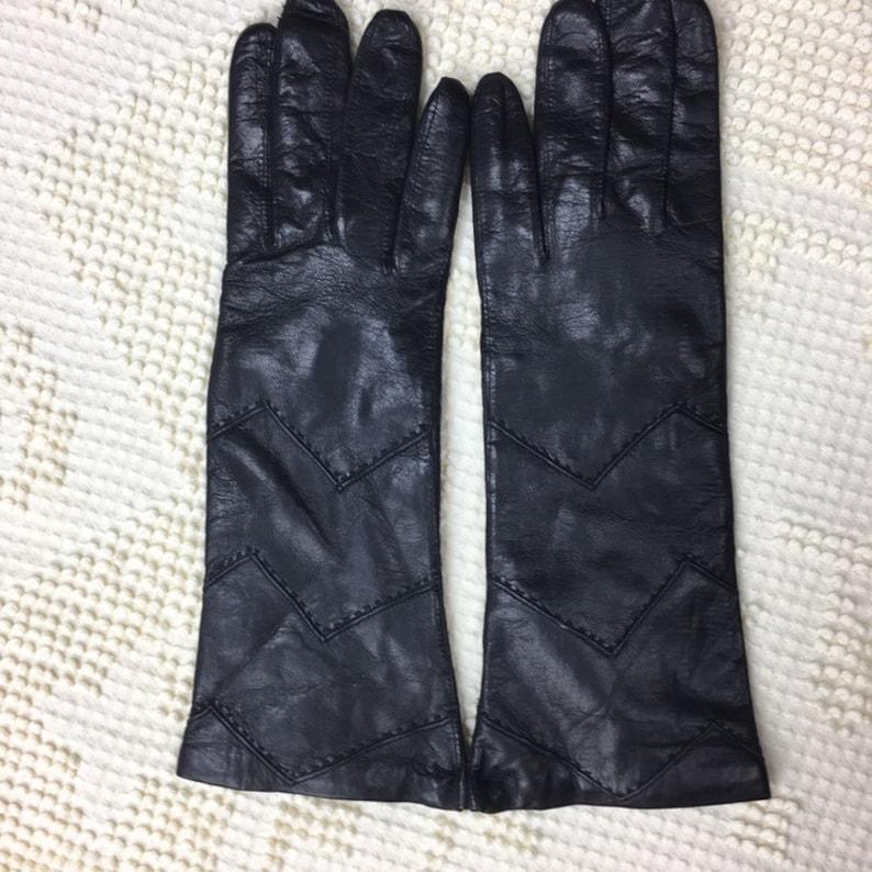 8c6833dd257 Vintage Leather Gloves Black Italian Leather Driving Gloves