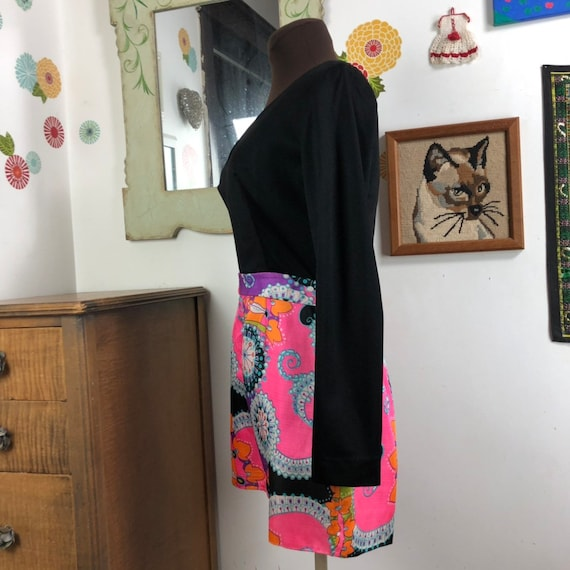 Vintage Romper Psychedelic Print Shorts with Long… - image 7