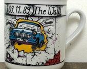 Vintage Souvenir Mug, 1989 Berlin Wall Mug by Rosler, Iron Curtain Falls