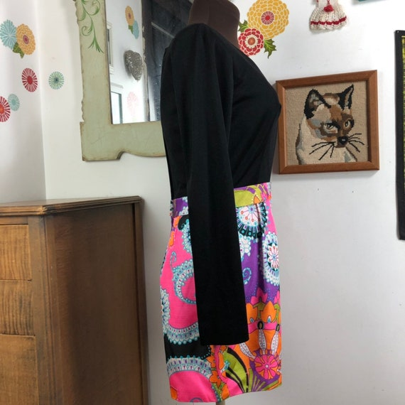 Vintage Romper Psychedelic Print Shorts with Long… - image 5