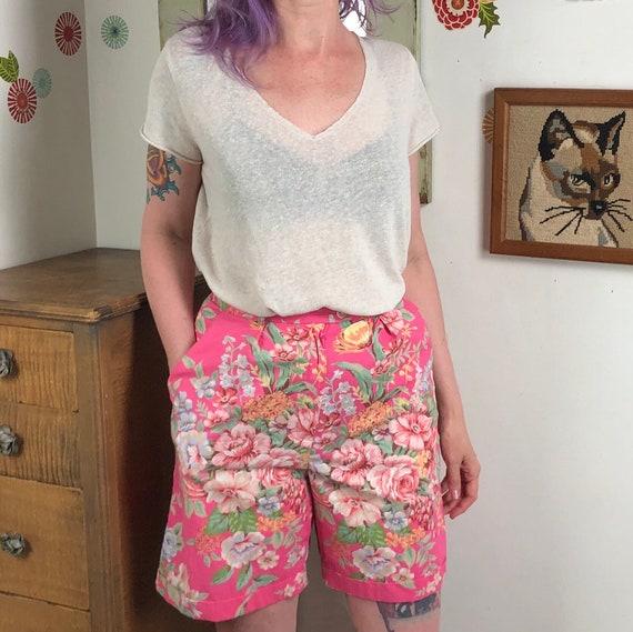 Vintage Pink Floral Shorts, Lauren Ralph Lauren Sh